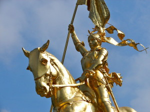 Joan of Arc on Horse