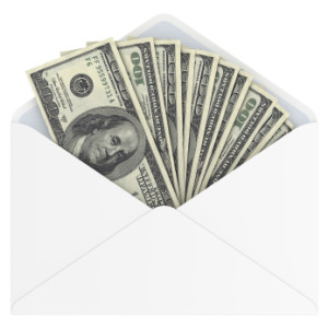 cash in envelope