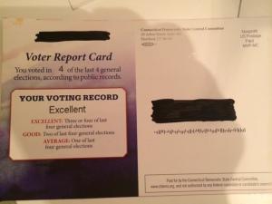 Dem Voter Report Card