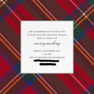 Scarborough holiday invitation