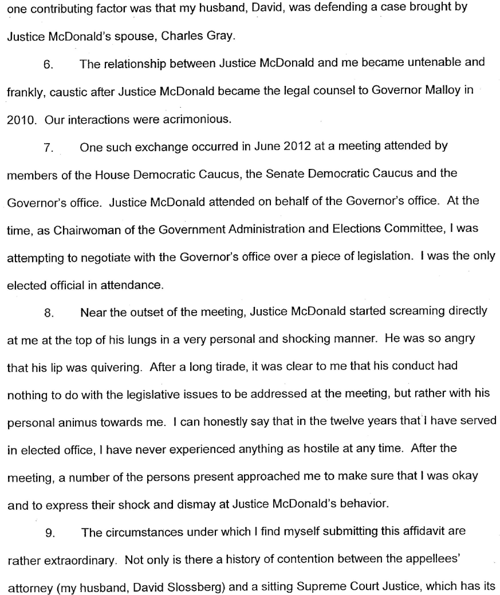 The Gayle Slossberg Affidavit In Full